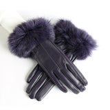 Women Sheepskin Gloves With Warm Rabbit Fur