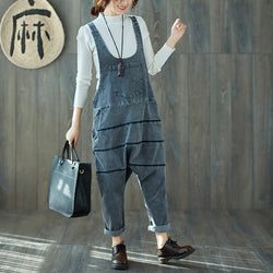 Woman Casual loose Cotton Jumpsuit