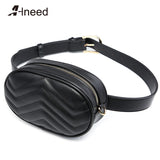 ALNEED Waist Bag Women Waist Fanny Packs High Quality Belt Bag Luxury Brand Leather Chest Handbag for Ladies 2018 New Fashion