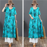 Casual Loose Cotton Linen Dress