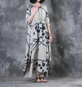 Dot Printing Long Dress