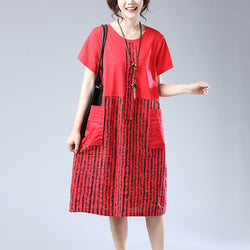 Cotton linen summer dress