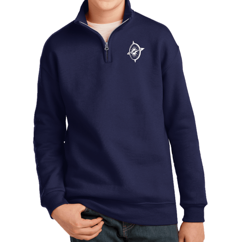 JERZEES Youth NuBlend  1/4-Zip Cadet Collar Sweatshirt