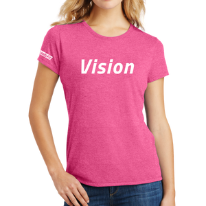 District Made Ladies Perfect Tri Crew Tee - Vision