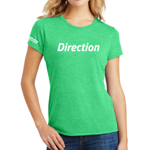 District Made Ladies Perfect Tri Crew Tee - Direction