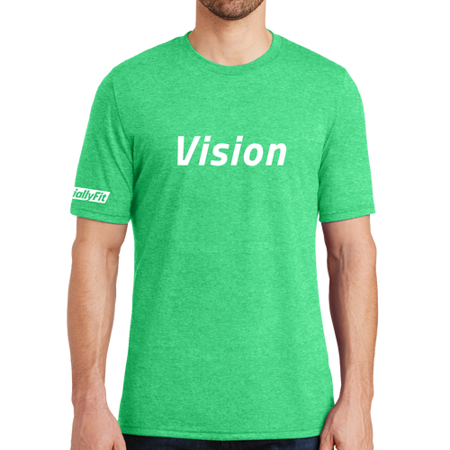 District Made Mens Perfect Tri Crew Tee - Vision