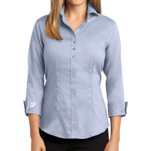 Red House Ladies 3/4-Sleeve Nailhead Non-Iron Shirt