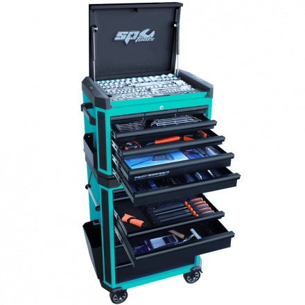 SP 313pc Metric/SAE Tech Series Tool Kit - Teal/Black