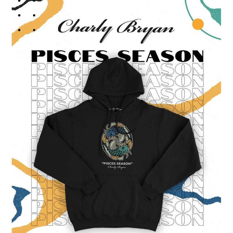 "Charly Bryan ""Pisces Season"" Hoodie - Excellent Quality Black Hoodie"
