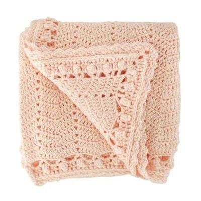 Cotton crochet blanket by OB Designs