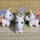 Crochet mini unicorn