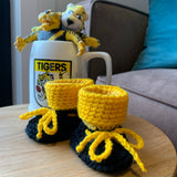 Baby booties in your team colours