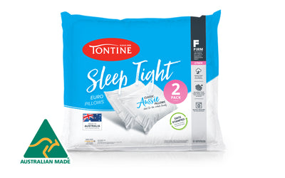 Tontine Sleep Tight Euro Pillow 2 Pack - High & Firm