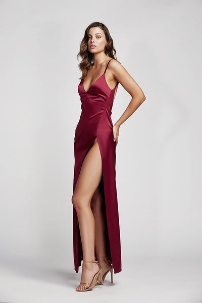 Lexi Akasa Dress - Wine Red