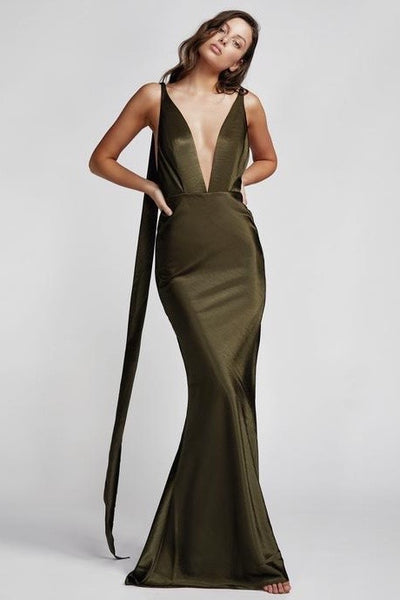 Lexi Adora Dress - Olive Green