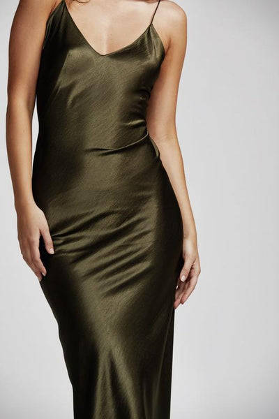 Lexi Camila Dress - Olive Green