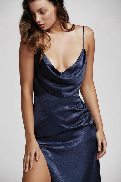 Lexi Carmen Dress - Navy