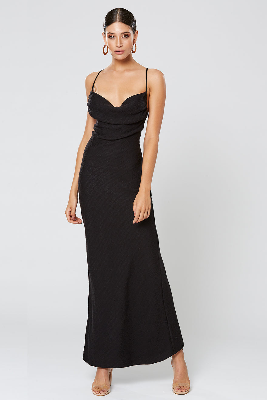 9fdab788d58 Winona - Fortune Cowl Neck Maxi Dress - Black