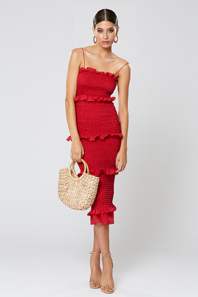 Winona Xia 3/4 Dress - Red