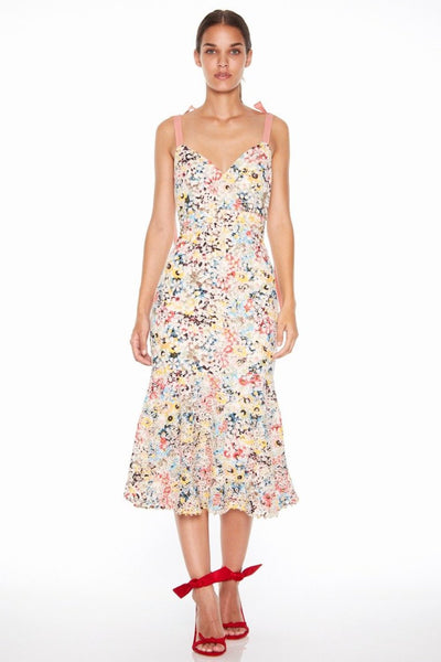 Talulah Bittersweet Flounce Midi Dress - Multi