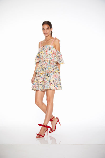 Talulah Bittersweet Flounce Mini Dress - Multi