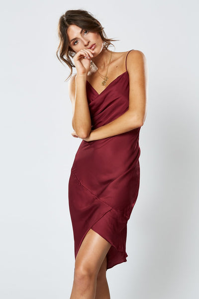 Winona Britannia Asymmetrical Dress - Wine