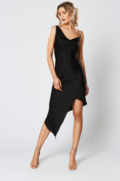 Winona Britannia Asymmetrical Dress - Black