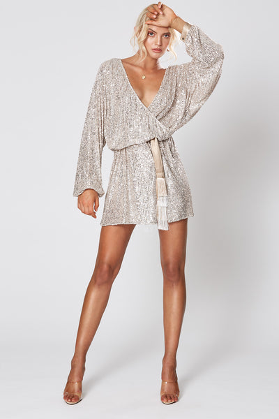 Winona Broadway Short Dress - Silver