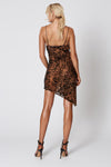 Winona Lynx Asymmetrical Dress - Leopard