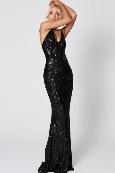 Winona Broadway Maxi Dress - Black
