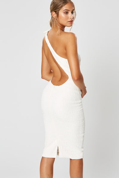 Winona Alva Asymmetrical Dress - Ivory