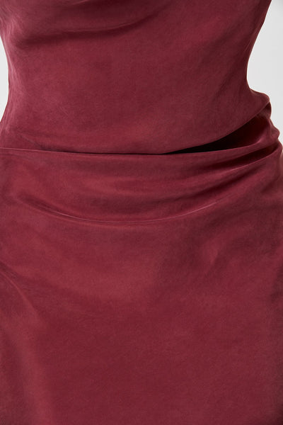 Winona Nevada Asymmetrical Dress - Wine