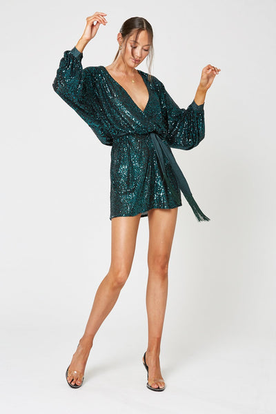 Winona Broadway Short Dress - Emerald