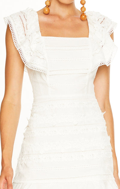 Talulah Spring Thrills Mini Dress - White