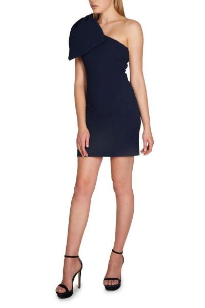 ff88db68c1e7 Rebecca Vallance - Hamptons Bow Mini Dress - Navy | All The Dresses