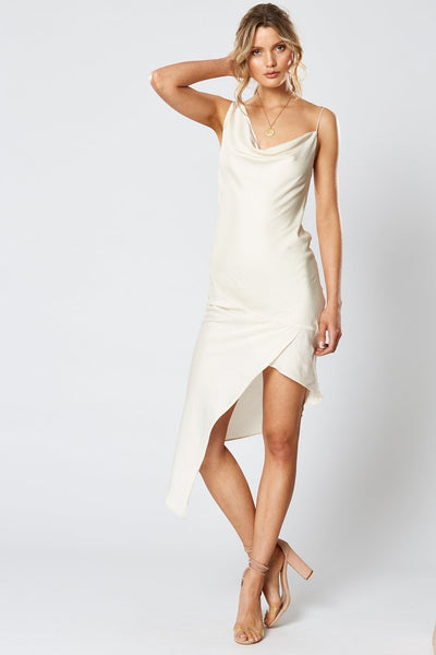 Winona Britannia Asymmetrical Dress - Pearl