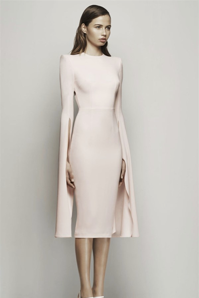 Alex Perry Chloe Midi Dress - Pink