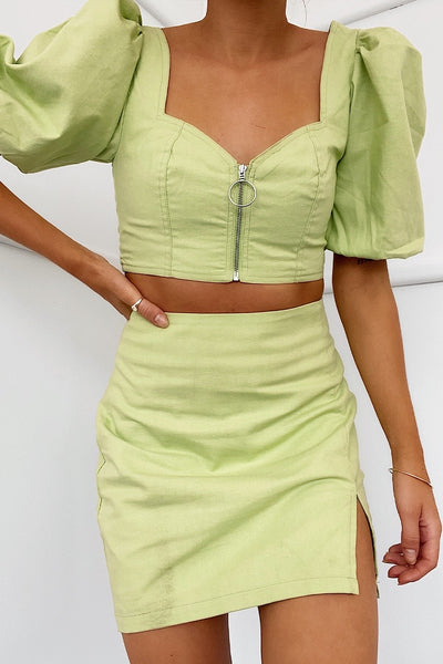 Seven Wonders Yulia Skirt - Retro Green