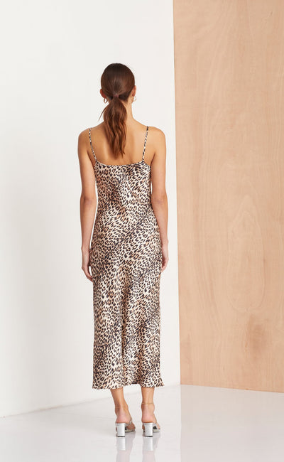 Bec & Bridge Feline Midi Dress - Leopard
