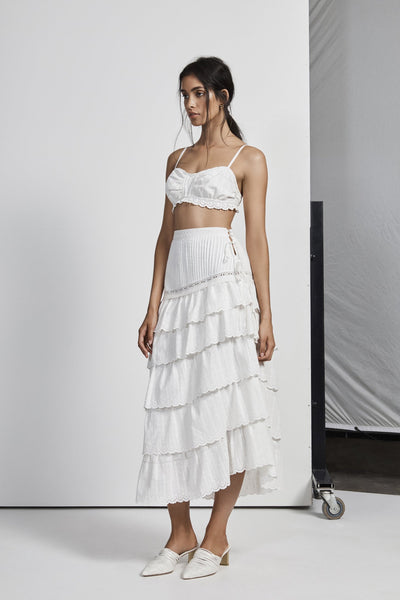 Sir the Label Celie Pleated Bralette - Ivory