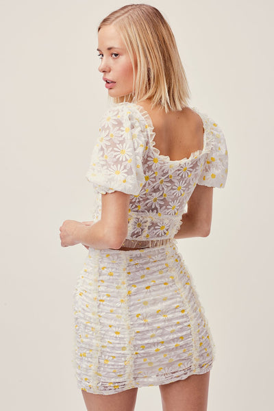For Love & Lemons Brulee Daisy Mini Skirt - Daisy