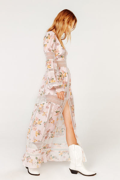 For Love & Lemons Rosa Marie Maxi Dress - Blush