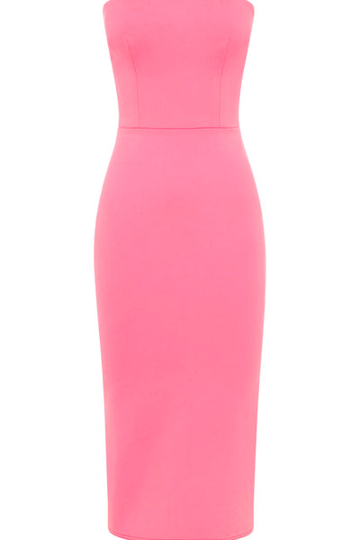 Alex Perry Kenzie Stretch Strapless Lady Dress - Pink