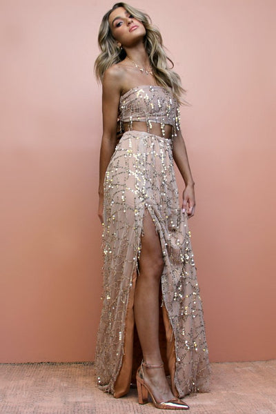 Sisters the Label Two Piece Gown - Embellished Fox