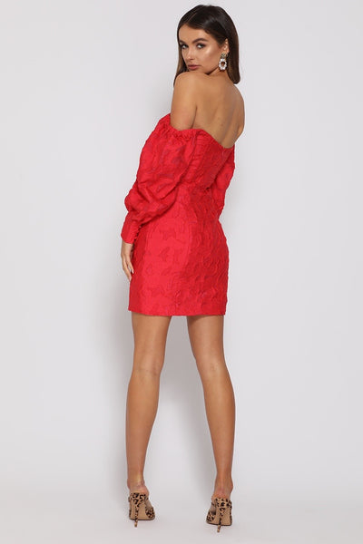 Runaway The Label Natalia Mini Dress - Red