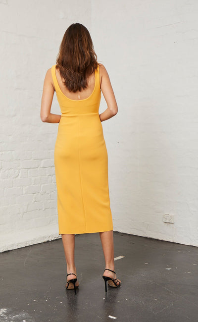 Bec & Bridge Elle Midi Dress - Mango