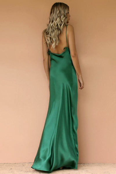 Sisters The Label Havanna Slip Gown - Emerald Sik
