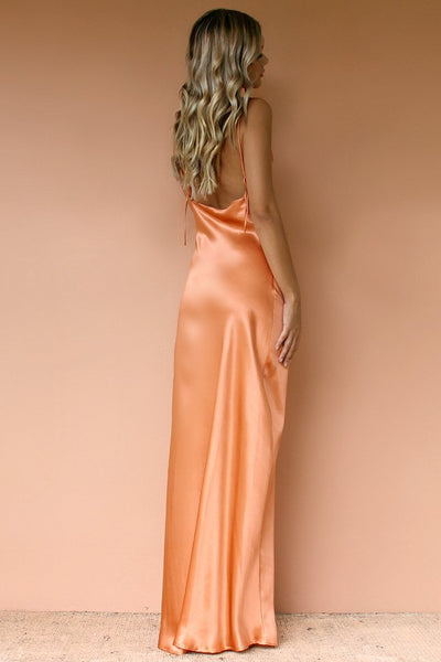 Sisters The Label Havanna Slip Gown - Coral Sik