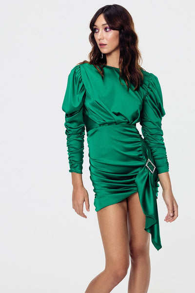 For Love & Lemons Isabeli Mini Dress - Vert