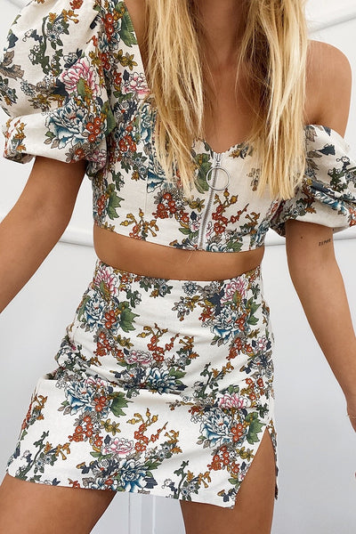 Seven Wonders Cleo Mini Top - Ivory Floral